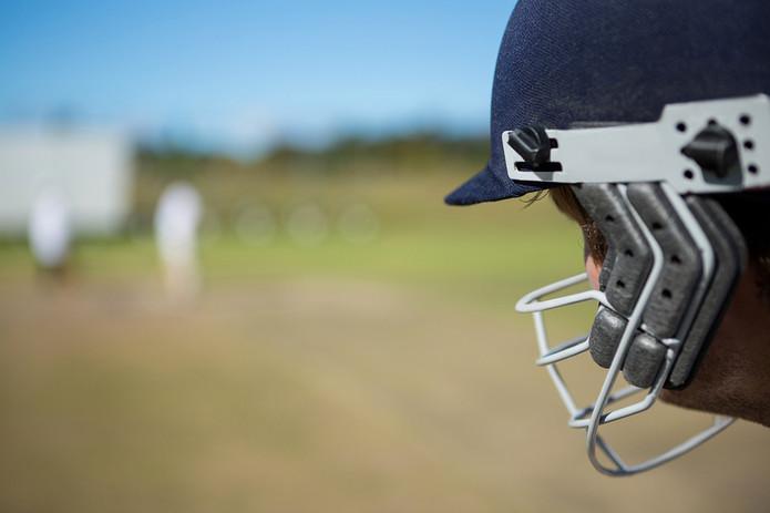 Cricket Batsman Close Up