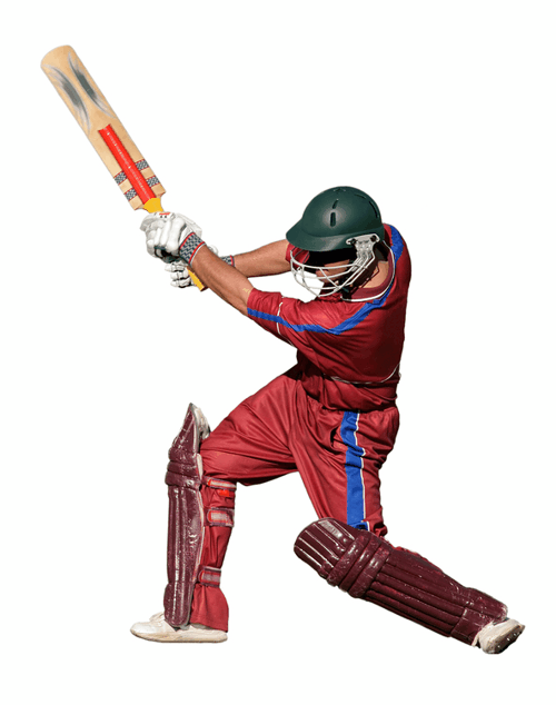 Cricket Player Illustration
