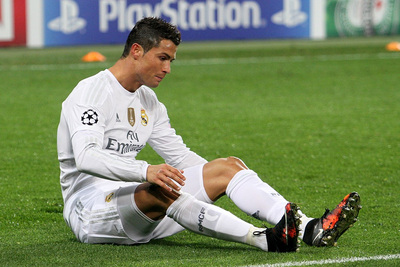 Footballer Cristiano Ronaldo Whilst Playing for Real Madrid