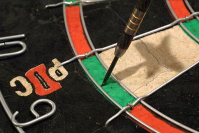 Dart Thrown in Double 6