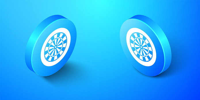 Dartboard Icons in Blue