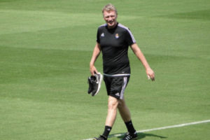 David Moyes During Training for Real Sociedad