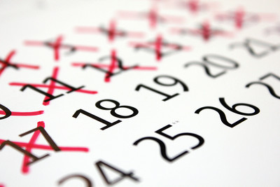 Days Crossed Out on Calendar