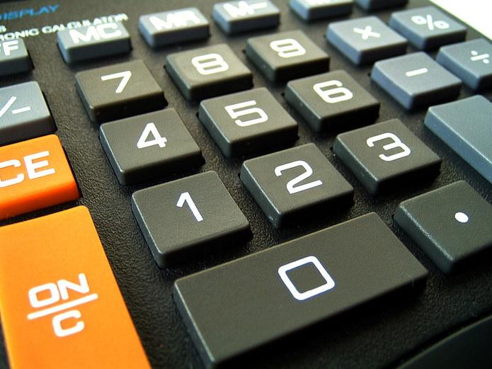 Desktop Calculator Buttons