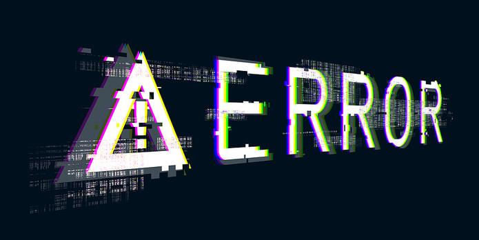 Digital Error Warning Message