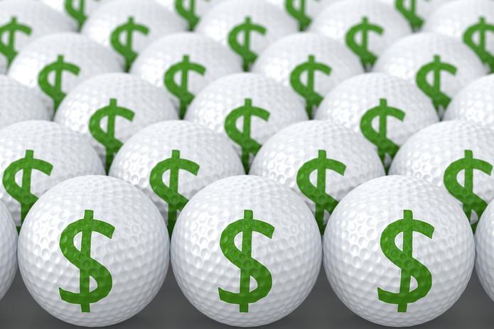 Dollar Sign Golf Balls