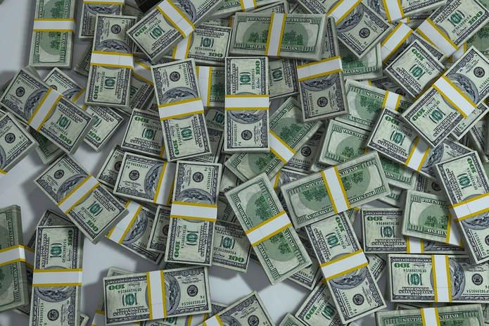 Bundles of £100 Dollar Bills