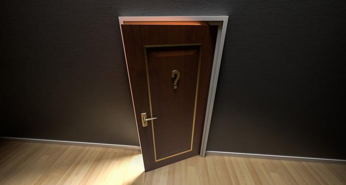Door with Question Mark