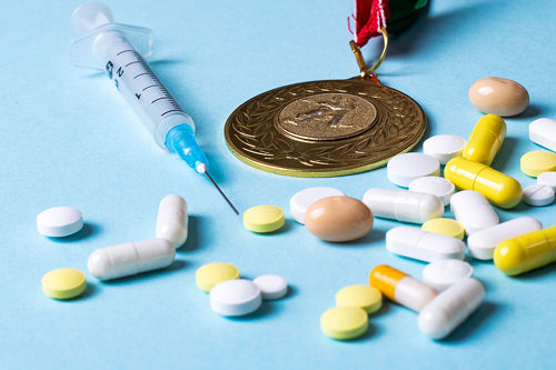 Doping Concept - Medal and Drugs