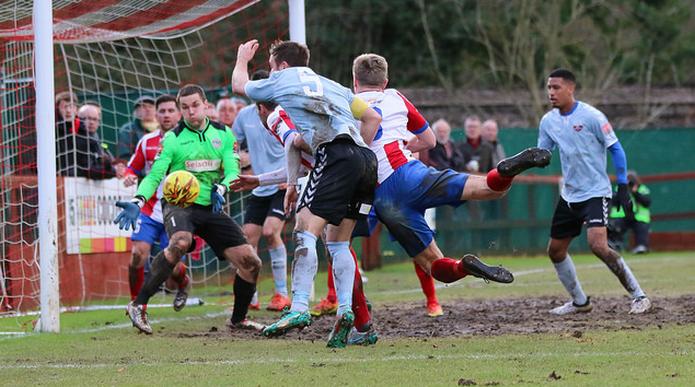 Dorking Wanderers vs. Lewes.