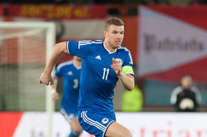 Bosnian Footballer Edin Dzeko