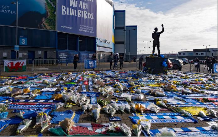Emiliano Sala Tributes at the Cardiff City Stadium