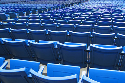 Empty Blue Stadium Seats