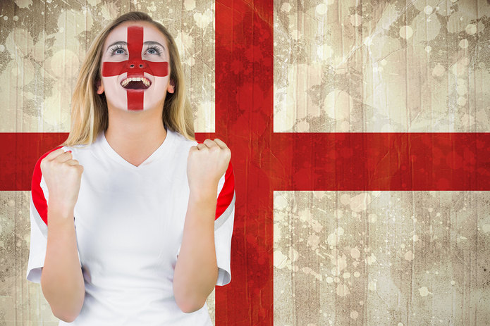 Female England Football Fan