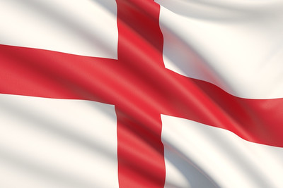 England Flag Fabric Texture