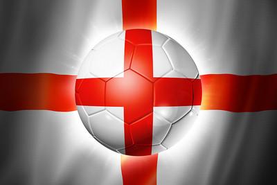 England Football Against Flag