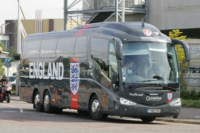 England Football Team Bus