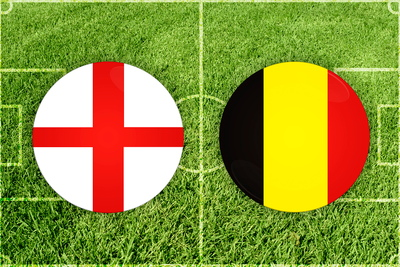 England and Belgium Football Flags