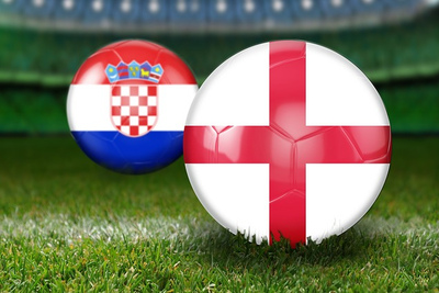 England and Croatia Football Flags