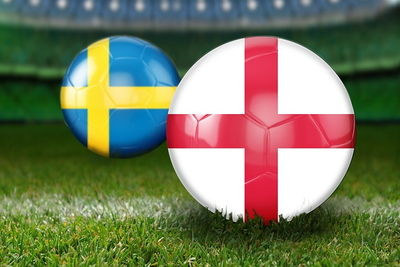 England and Sweden Football Flags