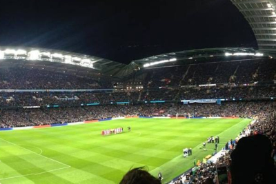 Manchester City's Etihad Stadium During Night Match
