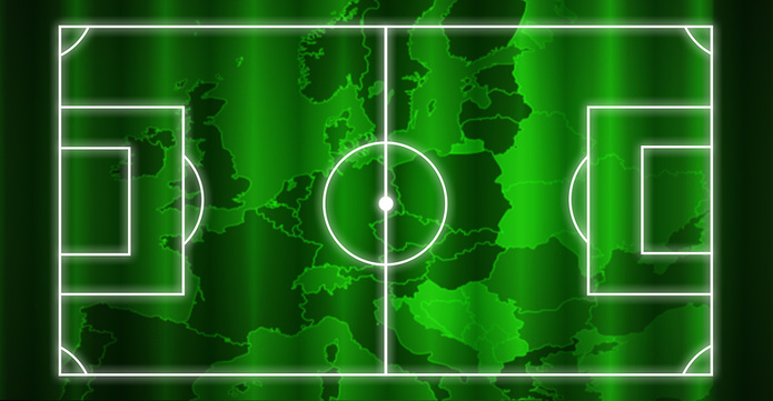 Europe Map Football Pitch