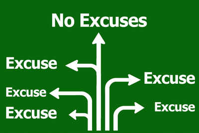 Excuses Road Sign