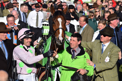 Racehorse Faugheen with Jockey Ruby Walsh and Trainer Willie Mullins