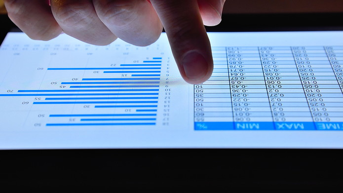 Financial Figures on Tablet