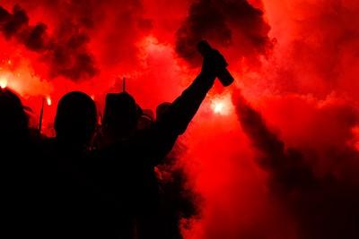 Flares and Smoke Bombs at Football Match