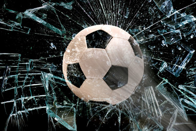 Football Breaking Glass