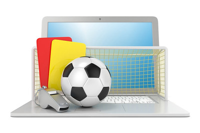 Football Equipment and Laptop