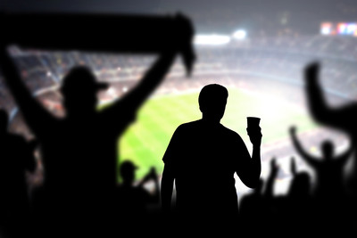 Football Fan Silhouette