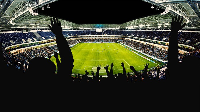 Football Fans Arms in the Air