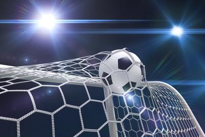 Football Goal Scored in Night Match
