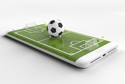 Football Pitch on Mobile Phone