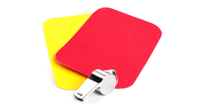 Football Red and Yellow Cards with Whistle