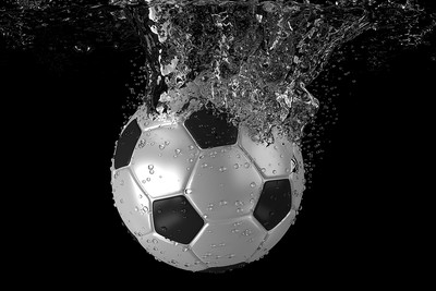 Football Sinking In Water