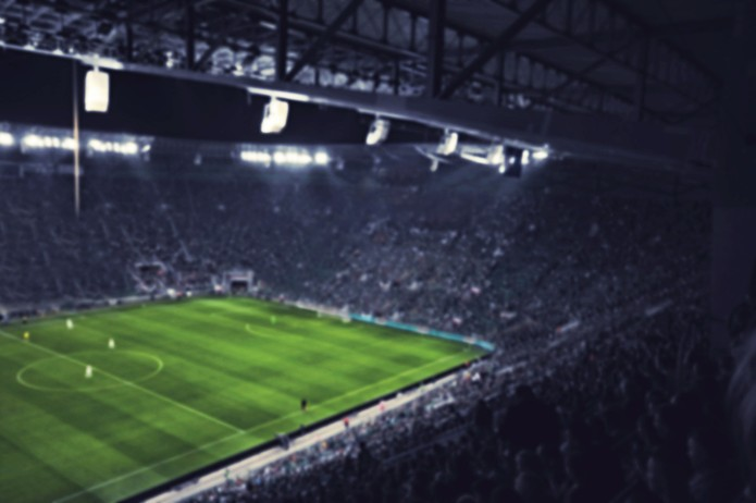 Football Stadium Blurred