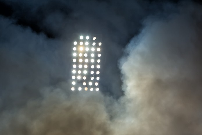 Football Stadium Lights and Smoke