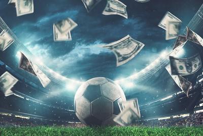 Football Stadium with Raining Money