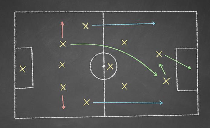 Football Tactics in Coloured Chalk