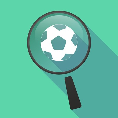 Football Under Magnifying Glass Icon