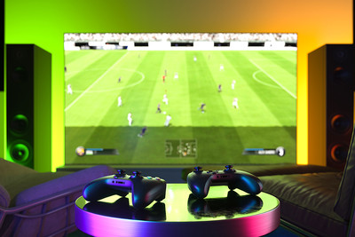 Football Video Game and Controllers