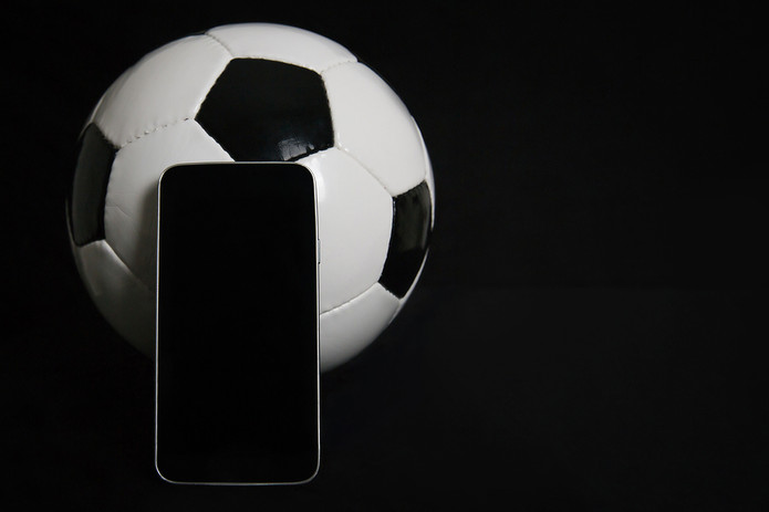 Football and Blank Mobile Phone