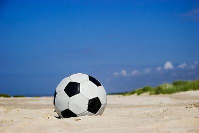 Football on Beach