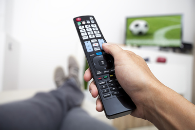 Football on Television with Remote Control