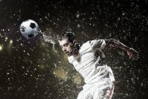 Footballer Heading Ball
