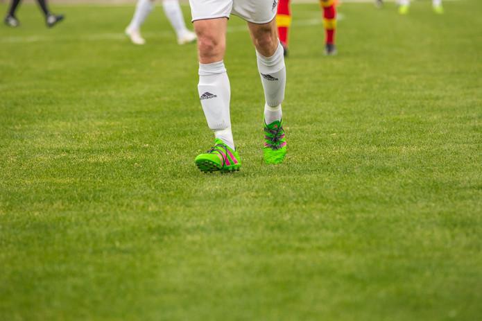 Footballer with White Socks
