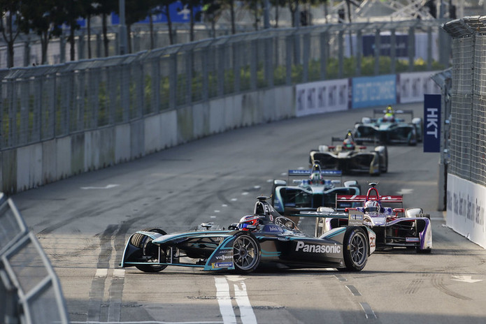 Formula E Cars on Circuit